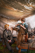 Tent Framed Prints - Steampunk - The Apprentice Framed Print by Mike Savad