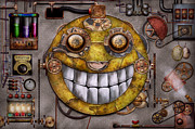 Crazy Metal Prints - Steampunk - The joy of technology Metal Print by Mike Savad