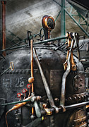 Brass Framed Prints - Steampunk - The Steam Engine Framed Print by Mike Savad