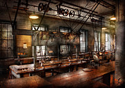Featured Prints - Steampunk - The Workshop Print by Mike Savad