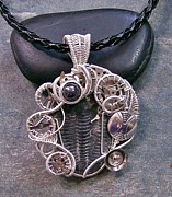 Jordan Jewelry - Steampunk Trilobite Fossil Pendant in Silver - TRILSP3 by Heather Jordan
