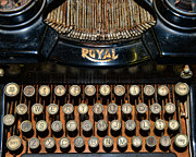Typing Framed Prints - Steampunk - Typewriter -The Royal Framed Print by Paul Ward