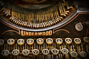 Typewriter Keys Photo Prints - Steampunk - Typewriter - Underwood Print by Paul Ward