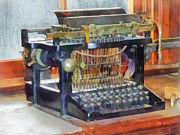 Offices Art - Steampunk - Vintage Typewriter by Susan Savad