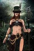 Voodoo Digital Art - Steampunk Voodoo by Sandra Bauser Digital Art