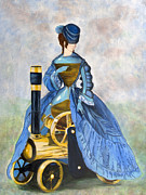 Solo Girl Prints - SteamPunk Wheels Print by Denise Deiloh