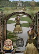 Crooked Fence Framed Prints - Steampunk Women Framed Print by Becky Hayes