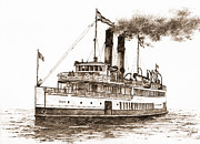 James Williamson - Steamship TACOMA Sepia