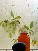 Canned Fruit Posters - Steamy Window Poster by Pamela Patch