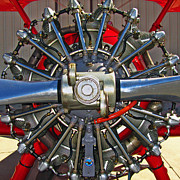 Airplane Radial Engine Posters - Stearman Engine Poster by Dale Jackson