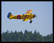 Stearman Prints - Stearman Flyby Print by Steve Jakes