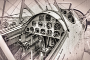 Struts Prints - Stearman N4760v Cockpit Print by Daniel Hagerman