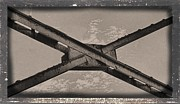Cross-bar Framed Prints - Steel Cross Beams Framed Print by Rudy Umans