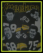 Pittsburgh Steelers Paintings - Steel Curtain by Gary Niles