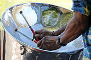 Steel Drums Photo Posters - Steel Drummin Poster by Scott Lenhart