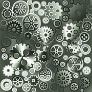 Steel Gears Print by Gaspar Avila