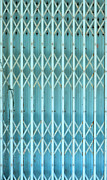 Metal Sheet Prints - Steel shutters Print by Antony McAulay