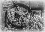 Western Photographs Prints - Steel Wagon Wheel From the Old West - HDR Print by Janice Sakry