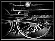 Antique Fan Framed Prints - Steel Wheels - Steam Train Drivers Framed Print by Edward Fielding