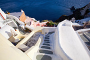 White Walls Art - Steep down stairs by Aiolos Greece Collection