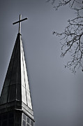 Wooden Building Posters - Steeple Poster by Margie Hurwich