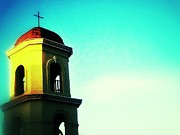 Old San Juan Digital Art Prints - Steeple on Del Sol Print by Olivier Calas