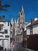 Religious Artist Paintings - Steeples by Cherise Foster