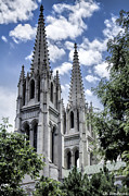 Sandoval Prints - Steeples Print by Lena Sandoval-Stockley