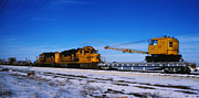 Brakeman Photos - Steet train at Zenith Kansas by David Stevenson