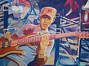 Bass Player Prints - Stefan Lessard and 2006 Lights Print by Joshua Morton