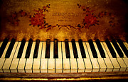 Original Art Photo Prints - Steinway Golden Grand  Print by Colleen Kammerer