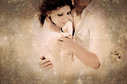 Emotions Posters - Stellar Couple Dance Poster by Jenny Rainbow