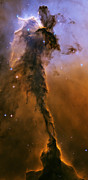Solar System Posters - Stellar spire in the Eagle Nebula Poster by Adam Romanowicz
