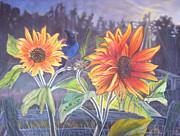 Stellar Sunflower Print by Rayna DeHoog