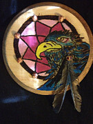 Dream Pyrography Prints - Stellers Jay Print by Brandon Baker ArtZen