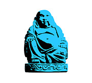 Cool Framed Prints - Stencil Buddha Framed Print by Pixel Chimp