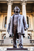 Capitol Building Framed Prints - Stephen A. Douglas Statue in Springfield Illinois Framed Print by Paul Velgos