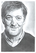 Cambridge Drawings - Stephen Fry by Richard Day