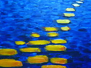 Water Way Paintings - Stepping Stones  by Eric Chifunda
