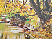 Stepping Stones Prints - Stepping Stones Print by Leigh Banks