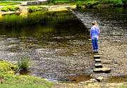 Stepping Stones Prints - Stepping Stones Print by Trevor Kersley