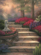 Pathway Painting Metal Prints - Steps of Providence Metal Print by Chuck Pinson