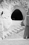Dug Out Framed Prints - steps up to the entrance of one of the caves at the Sidi Driss Hotel underground at Matmata Tunisia scene of Star Wars films vertical Framed Print by Joe Fox