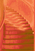 Flight Of Stairs Posters - Steps Poster by Wendy J St Christopher