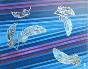 Sterling Silver Art - Sterling Plume by Angela Conley