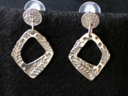 Post Jewelry - Sterling Silver Post Earrings with Leaf Design by Dyan  Johnson