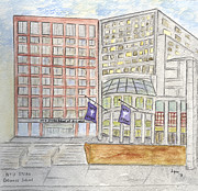Greenwich Village Paintings - Stern School of Business by Lynn Lieberman