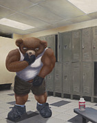 Sweat Mixed Media Prints - Steroid Teddy Print by Preston Craig