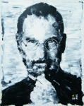Wearing Glasses Posters - Steve Jobs Poster by Michael Leporati