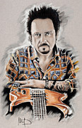Featured Pastels Framed Prints - Steve Lukather Framed Print by Melanie D
